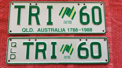 TRI 60 personal plates for sale